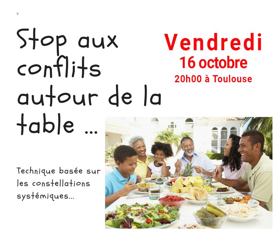 Vendredi 16 octobre – STOP aux conflits autour de la Table
